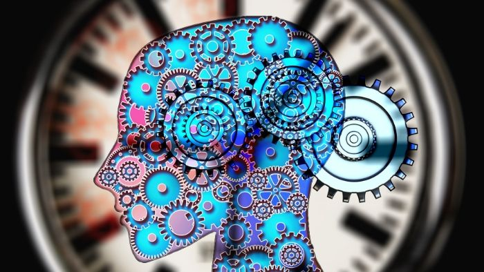 a drawing of a brain with multicolor gears in it, Hypnosis to Remove Mental Blocks in Sports Performance